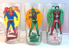 Super Hero Series glassware - Pepsi 1976