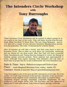 Meet Tony Burroughs - Sept 9 - Austin, TX  - Potluck at 6:30pm and Circle at 7pm Central