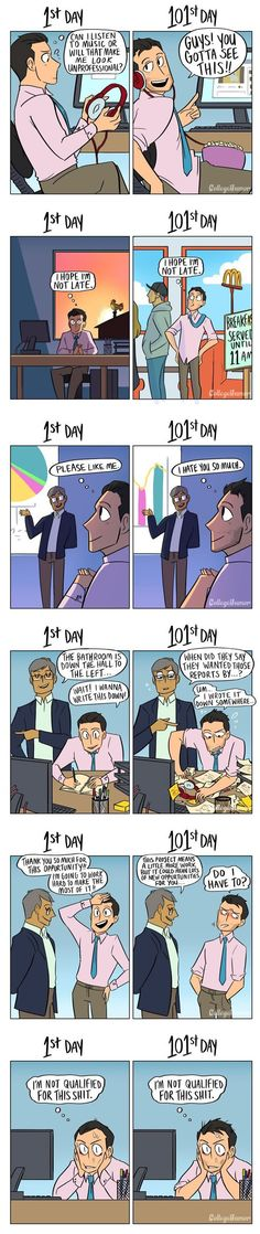 How Your Job Changes Over Time - 9GAG