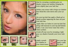 Makeup tutorial from the August 2012 issue of Popteen.