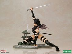 toyhaven: Kotobukiya Marvel Bishoujo collection scale X-Force Psylocke Statue just looks so good! Ninja Outfit, Bishoujo Statue, Marvel Statues, Pop Culture News, X Force, Psylocke, Anime Merchandise, New Image, Marvel Comics