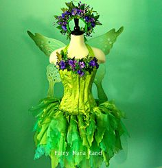 Adult Fairy Costume - Pebble Creek Violet Faerie - Corset bust size 32-34 adult small. $435.00, via Etsy.