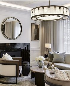 Classy Living Room, Formal Living Rooms, Living Spaces, Room Inspiration, Interior Inspiration, Laura Hammett, Living Room Designs, Living Room Decor, Leather Wall Panels