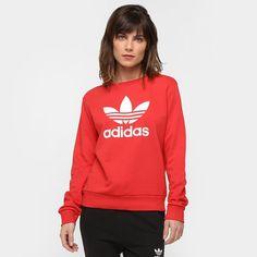 fd42a6058a Moletom Adidas Originals Trefoil Crew - Compre Agora