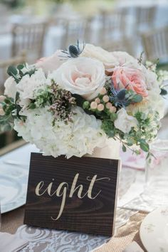 Country Chic Wedding Table Numbers