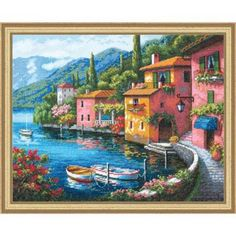 Dimensions® Lakeside Village Kit Counted Cross-Stitch Kit $44.99