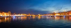 Veux-Port at night by Elena Rusko on New York Skyline, Spaces, Night, Travel, Marseille, Viajes, Traveling, Tourism, Outdoor Travel