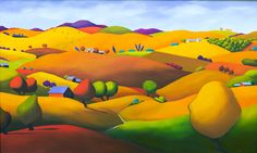 """Anne Cady, """"Chestnut and Bay"""", 36"""" x 60"""", oil on canvas"""