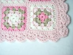 Pink Crochet Baby Blanket Newborn Blanket Photo prop by nerina52