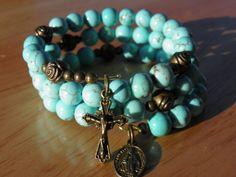 Stunning+Sleeping+Beauty+Turquoise+dyed+by+rosarybraceletwrap5,+$60.00