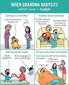 When Grandma Babysits (Parenting Comic by Hedger Humor for Babble) Parenting Humor Teenagers, Parenting Memes, Parenting Books, Parenting Classes, Parenting Toddlers, Parenting Ideas, Teen Humor, Mom Humor, Goals Tumblr