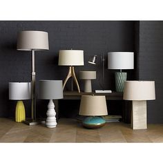 Table and floor lamps from our fall collection   Crate and Barrel
