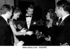 Schneider, Romy, 23.9.1938 - 29.5.1982, German actress, half length, with Karlheinz Boehm and Magda Schneider, film - Stock Photo