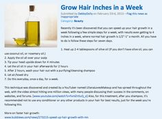 How to grow hair super fast. Haven't tried it, but let me know how it works