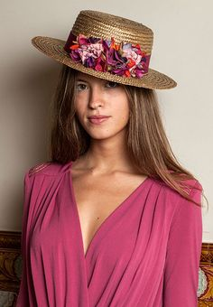 Sexy boho chick in Boater Hats