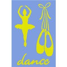 Show-Offs Dance & Ballet Decorative Stencil   Shop Hobby Lobby
