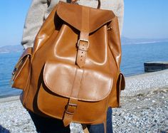 Leather Backpack Leather Rucksack Mens Leather backpack