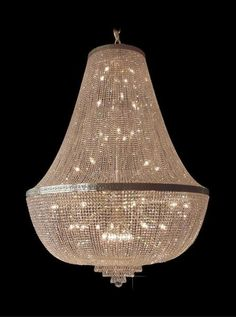 This elegant basket chandelier is richly decorated with the highest quality cut crystal trimmings with high lead content. Silver or gold coloured metal parts are provided with a protective layer.