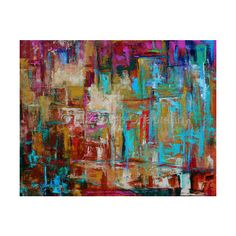 Contemporary Abstract Paintings by Elizabeth Chapman ❤ liked on Polyvore
