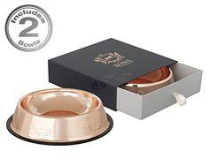 Dog Food Bowls in Designer Rose Gold by Beautiful Things ... https://smile.amazon.com/dp/B01KSKBFAK/ref=cm_sw_r_pi_dp_x_YcDNybMVFZMJ6