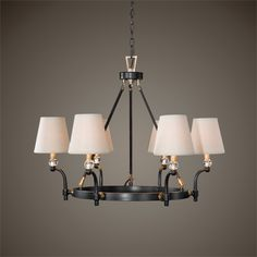 Uttermost Circolo Oil Rubbed Bronze 6 Light Chandelier 32 W