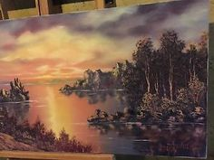 Bill Alexander Rare Sunset Landscape Painting Original C/O Art Wet On Wet  | eBay