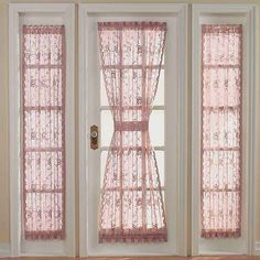 Side Door Window Curtains   Door Designs Plans