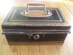 Vintage #heavy solid petty cash/money box c #1920. with inner #compartments…