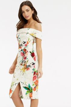 alternative view Floral Bardot Dress, Ascot Dresses, Oasis Uk, Royal Ascot, Pencil Dress, Off The Shoulder, Neckline, Summer Dresses, Womens Fashion