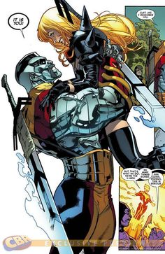 Alternate reality Colossus with a sweet handlebar mustache...and Magik by Stuart Immonen *