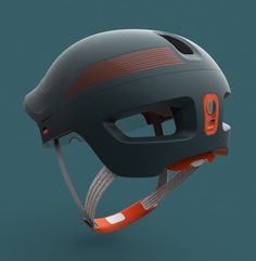Optic, Smart Cycle Helmet by DCA Design: award-winning cycle helmet concept that employs tech and smart design to save lives on the road. Scooter Helmet, Cycling Helmet, Bicycle Helmet, Bike Helmets, Smart Glass, Helmet Head, Design Industrial, Best Scooter, Yanko Design