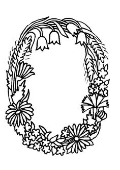 coloring page Alphabet Flowers on Kids-n-Fun. Coloring pages of Alphabet Flowers on Kids-n-Fun. More than coloring pages. At Kids-n-Fun you will always find the nicest coloring pages first! Alphabet A, Flower Alphabet, Embroidery Alphabet, Alphabet Coloring, Embroidery Monogram, Hand Embroidery Patterns, Colouring Pics, Cool Coloring Pages, Flower Coloring Pages