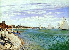 Regatta at Sainte-Adresse - Claude Monet
