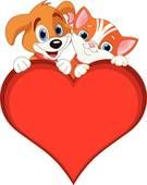 Valentine Cat and dog sign EPS Vector Free Photographs, Dog Signs, Eps Vector, Royalty Free Photos, Art Images, Dog Cat, Clip Art, Animation, Stock Photos