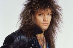 Jon Bon Jovi with that classic 80's Hair from Rolling Stone magazine