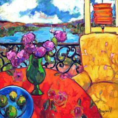 Interior Con Sillon Amarillo by Jae Dougall (oil, 30 x 30 in)