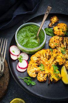 Sandhya's Kitchen - Quick & Easy Vegetarian Recipes Cauliflower Steaks, Cauliflower Fried Rice, Cauliflower Recipes, Vegetarian Recipes Easy, Healthy Recipes, Vegan Vegetarian, Aloo Gobi, Kitchens