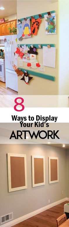 8 Amazing Ways to Display Kid's Artwork – Hearts On My Sleeve