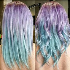 Lilac and pale Sky Blue hair