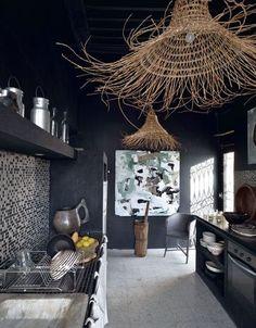 Black pour une cuisine rock