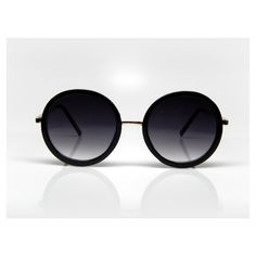 Round Black Sunglasses - Chic Renegade Accessories ($29) ❤ liked on Polyvore featuring accessories, eyewear, sunglasses, round frame sunglasses, uv protection sunglasses, round sunglasses, uv protection glasses and rounded sunglasses