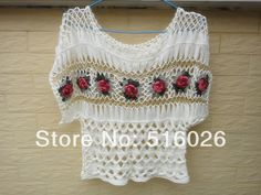 Free Shipping Hairpin Crochet Tops Women Lace Blouse Plus Size Summer Floral Tops, Hollow Out Lace Cover up Batwings
