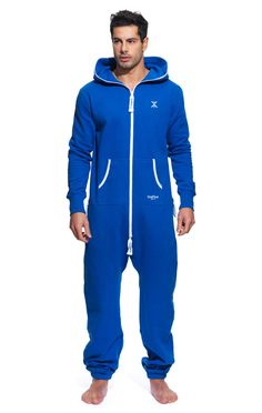 Check out the Original Onesie Royal Blue. High quality jumpsuit made of premium cotton. Mens Pjs, Mens Onesie, Boys Pajama Pants, Boys Pajamas, Warm Outfits, Boy Outfits, Onesie Pajamas, Blue Jumpsuits, Camping Outfits