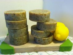 New item--a kitchen scrubby soap with oatmeal, coffee grounds, and lemon peel, plus lemon tea tree oil.  Smells awesome, scrubs even better!  Citrus Scrubby Soap with Lemon Tea Tree by SomethingGoodNatural, $4.75