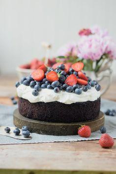 Schokolade geht auch im Sommer: Mit Beeren und Quark-Creme | Das Knusperstübchen | Bloglovin'
