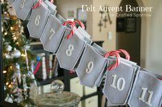 Felt advent calendar by The Crafted Sparrow