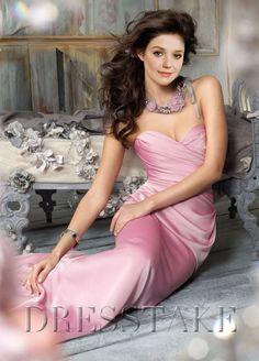 Hot Sale A-line Sweetheart Floor-length Elastic Woven Satin Colored Bridesmaid Dresses, US$82.99