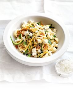 This fresh pasta recipe makes great use of seasonal produce for a fresh and filling weeknight meal ready in minutes. Great for vegetarians.