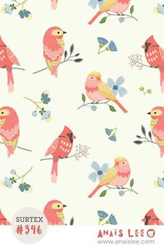 print & pattern: SURTEX 2016 - anais lee - love these birds!