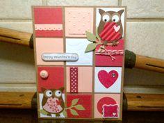 Stampin' Up! Girlfriend Originals, owl punch valentines card